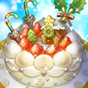 聖夜のホワイトケーキのアイコン