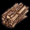よく乾いた薪のアイコン