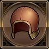 革の帽子アイコン