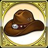 探検者の帽子アイコン