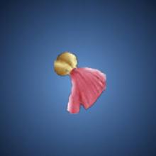 白天使の飾りのイラスト
