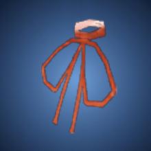 野性の赤紐のイラスト