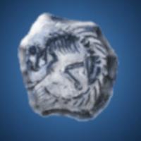 古代獣の化石のイラスト