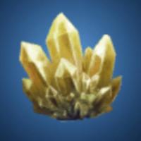 奇岩洞の金水晶のイラスト