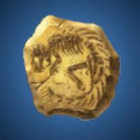 黄金獣の化石のイラスト