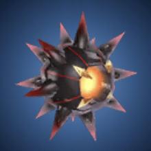 超科学の鉄球のイラスト