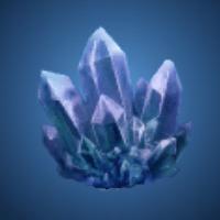 天水洞の蒼水晶のイラスト
