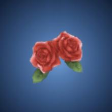 秀才の薔薇飾りのイラスト
