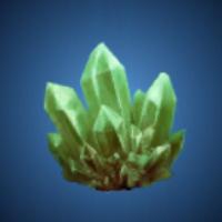 暴風洞の翠水晶のイラスト
