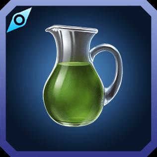 深緑の絞り汁のイラスト