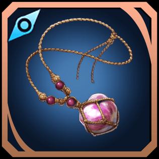 桃真珠の首輪のイラスト