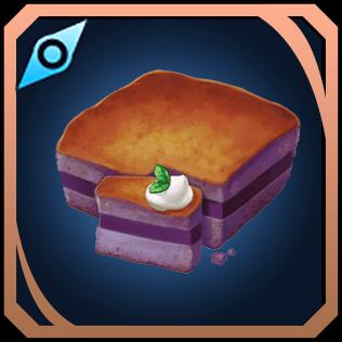 紫芋のケーキのイラスト