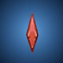真紅の滴のイラスト