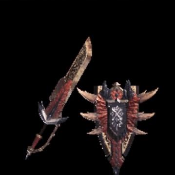皇金の盾斧・王