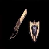 皇金の盾斧・水