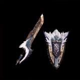 皇金の盾斧・飛雷