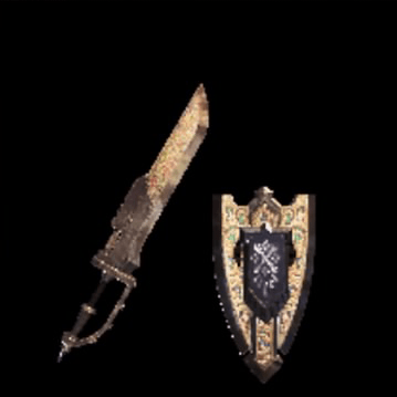 皇金の盾斧・氷
