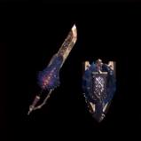 皇金の盾斧・岩賊