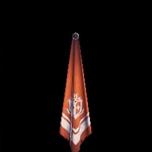 銀章のスカーフ・橙
