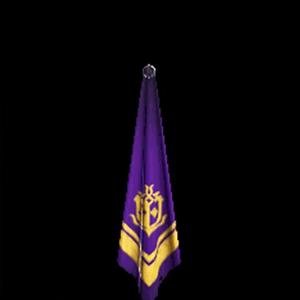 金章のスカーフ・紫