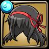 黒翼の魔法少女ほむらの髪型アイコン