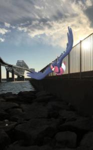 オオスバメのAR画像