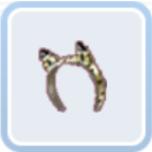 猫耳のヘアバンド