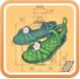 緑の藤の靴(高級サンダル)