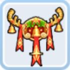 金色のクリスマスの鈴