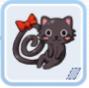 黒猫のブローチ