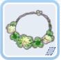 可愛い草のネックレス