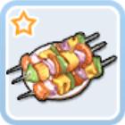 初心者の野菜の串焼き