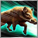 猪突猛進のアイコン