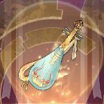 五弦の琵琶のアイコン