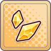 金の結晶片のアイコン