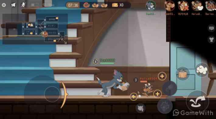 トムとジェリー:チェイスチェイスのゲーム画面