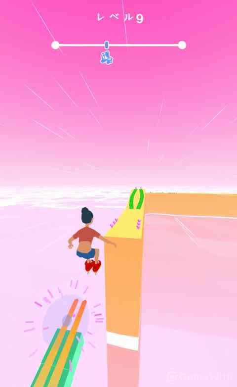 障害物を避けて、曲がって、ジャンプして! コースを華麗に滑走せよ!