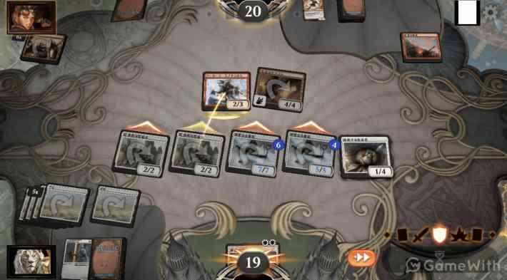 マジック:ザ・ギャザリング アリーナのゲーム画面