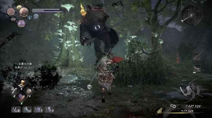 森林地帯には木の上に猿鬼が3体いるので注意