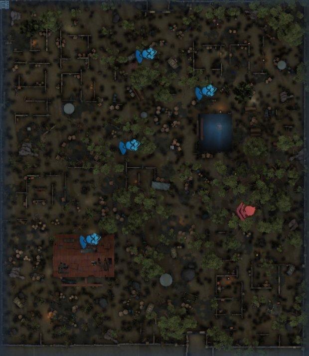 軍需工場のスポーン地点マップ6
