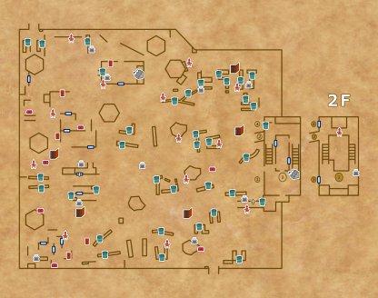 湖景村の手書きマップ
