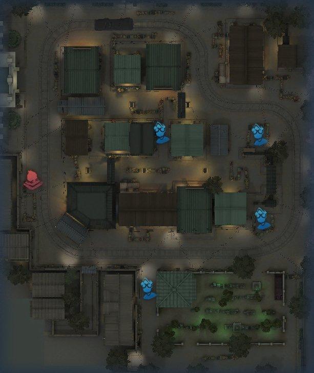 永眠町のスポーン地点マップ1