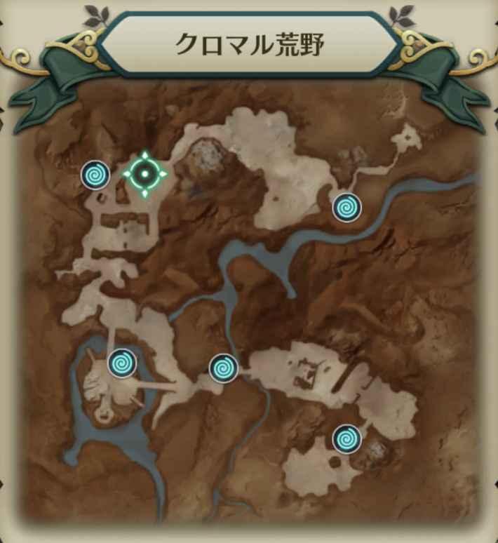 木の寺院の精霊マップ1