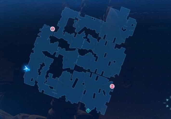 B1F地下駐車場のマップ