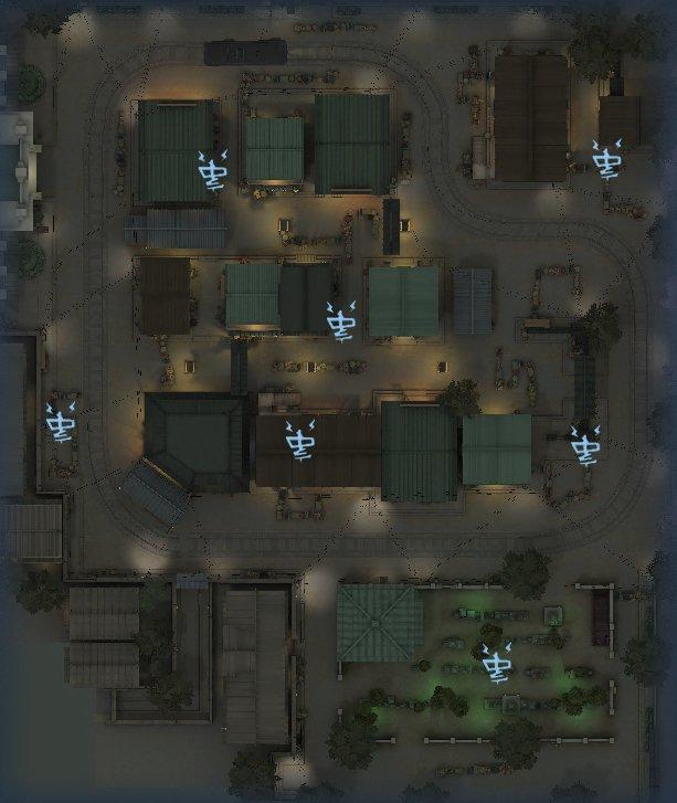 永眠町の暗号機マップ1