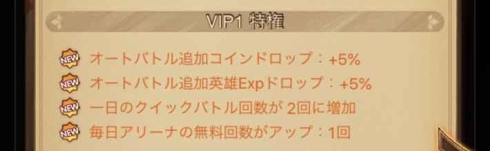 VIPレベル