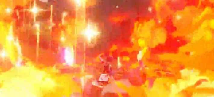 炎の広範囲攻撃