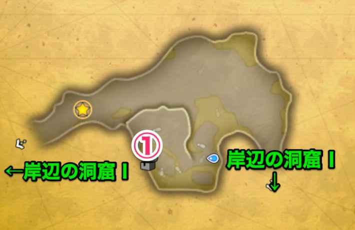 岸辺の洞窟Ⅱマップ