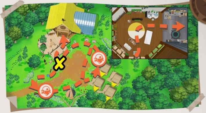 ベースキャンプの全体マップ