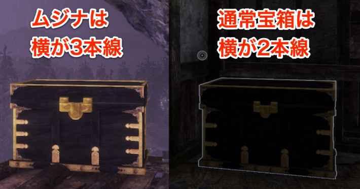 ムジナの宝箱は横線が3本